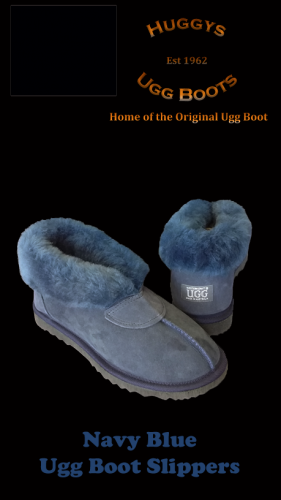 Navy Blue Slippers